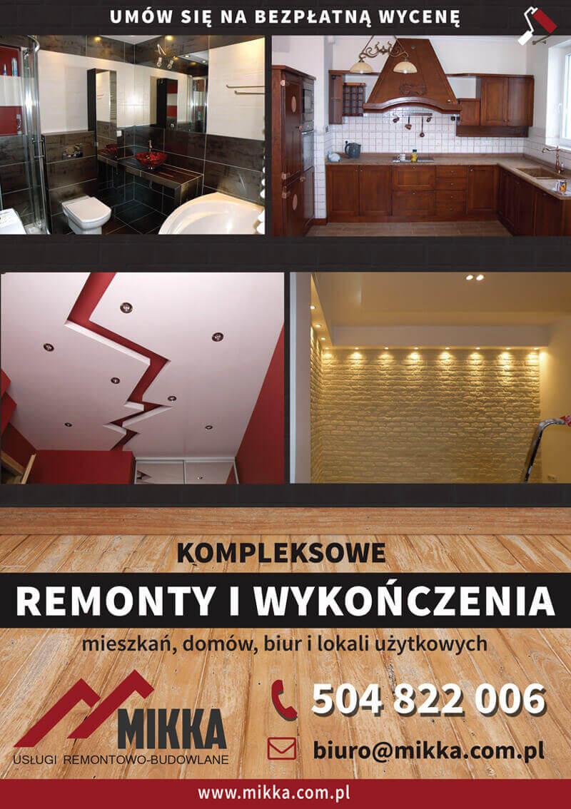 Projekt ulotki dla firmy remontowej