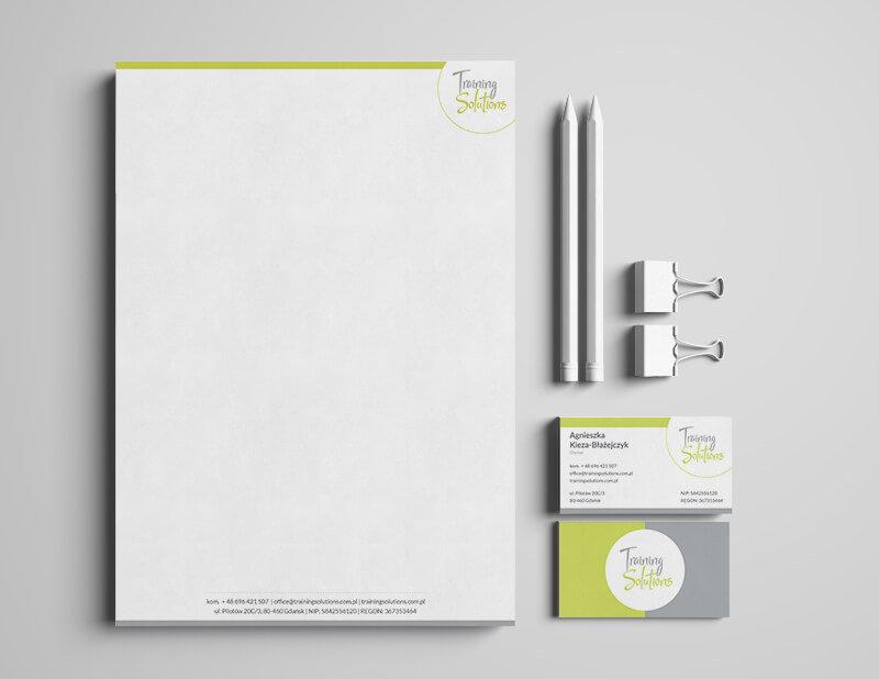 Training Solutions - papier firmowy iwizytówka