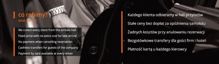 Projekt dwustronnej wizytówki składanej Taxi