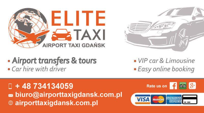 Wizytowka 90x50 - Elite Airport Taxi Gdańśk