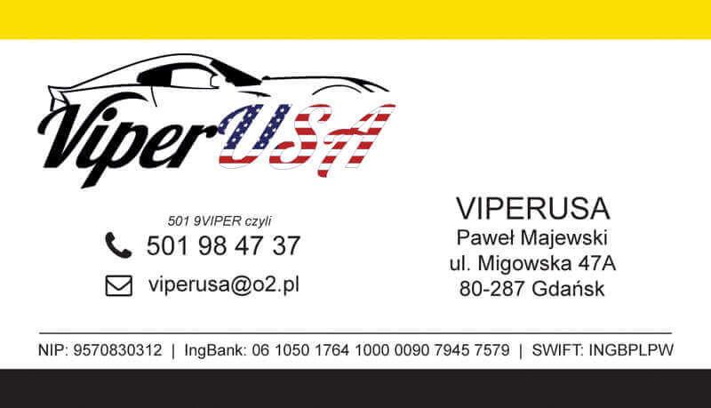 Wizytówka ViperUSA - projekt graficzny