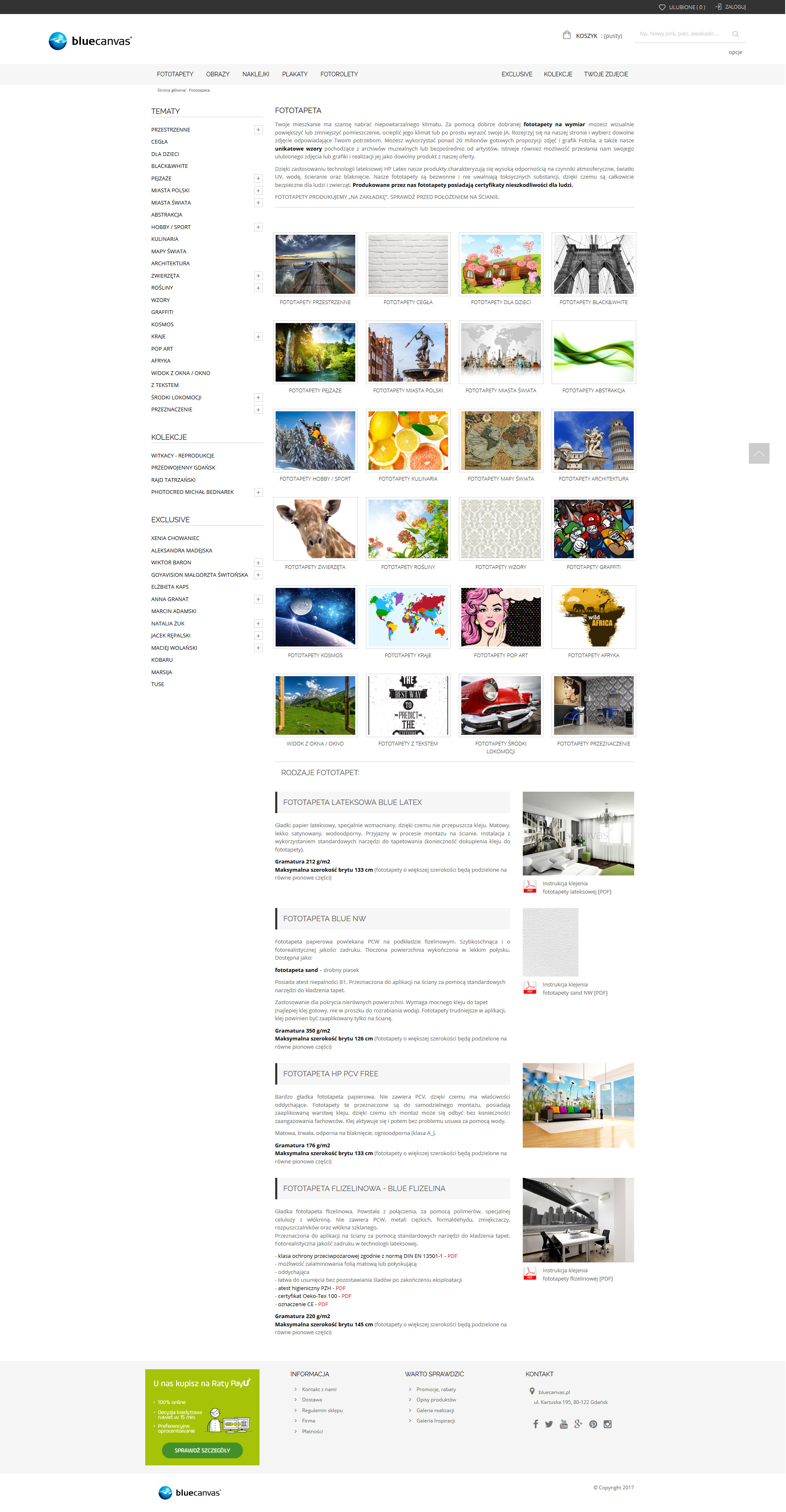 sklep internetowy bluecanvas.pl