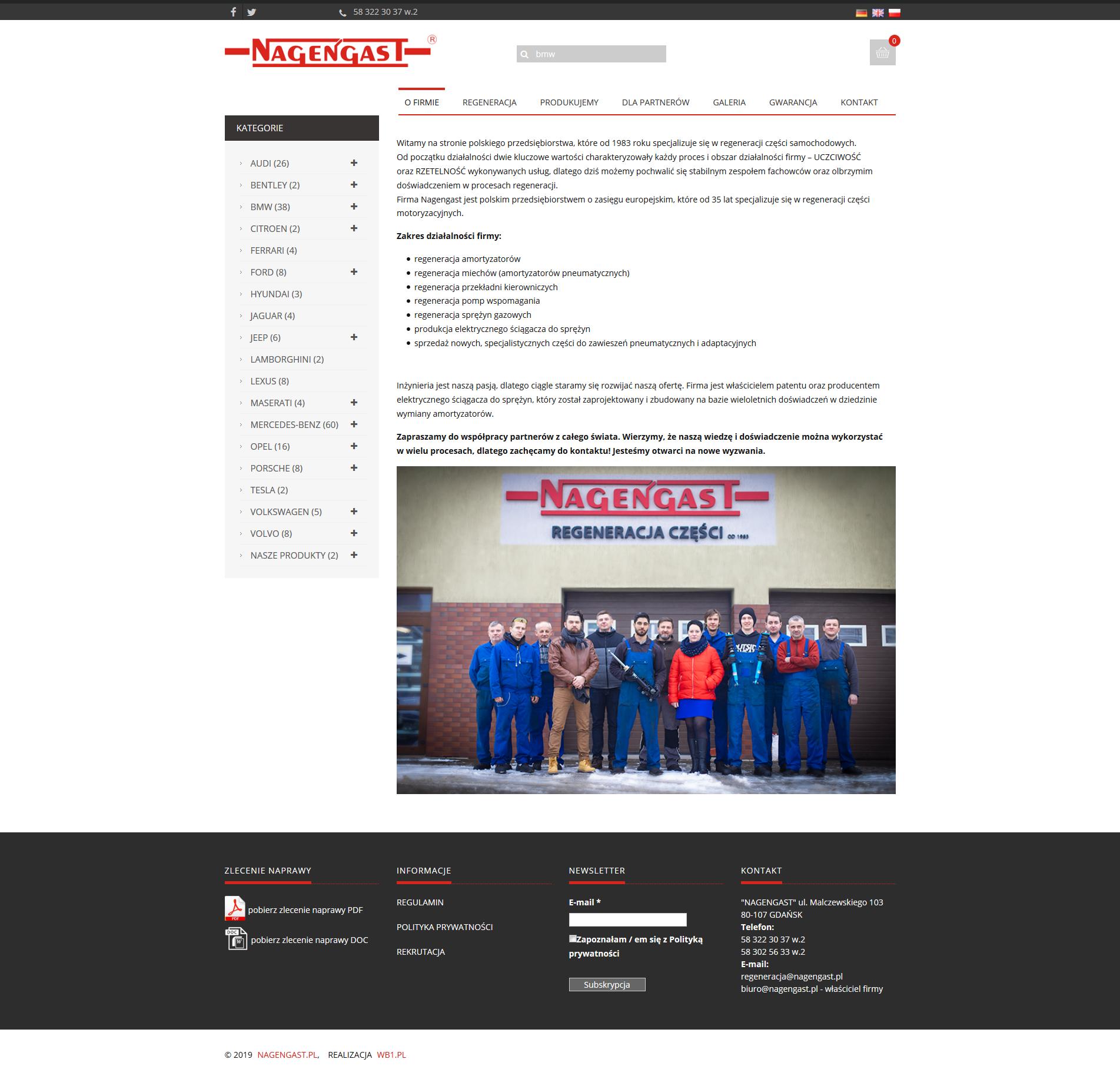 Nagengast strona internetowa