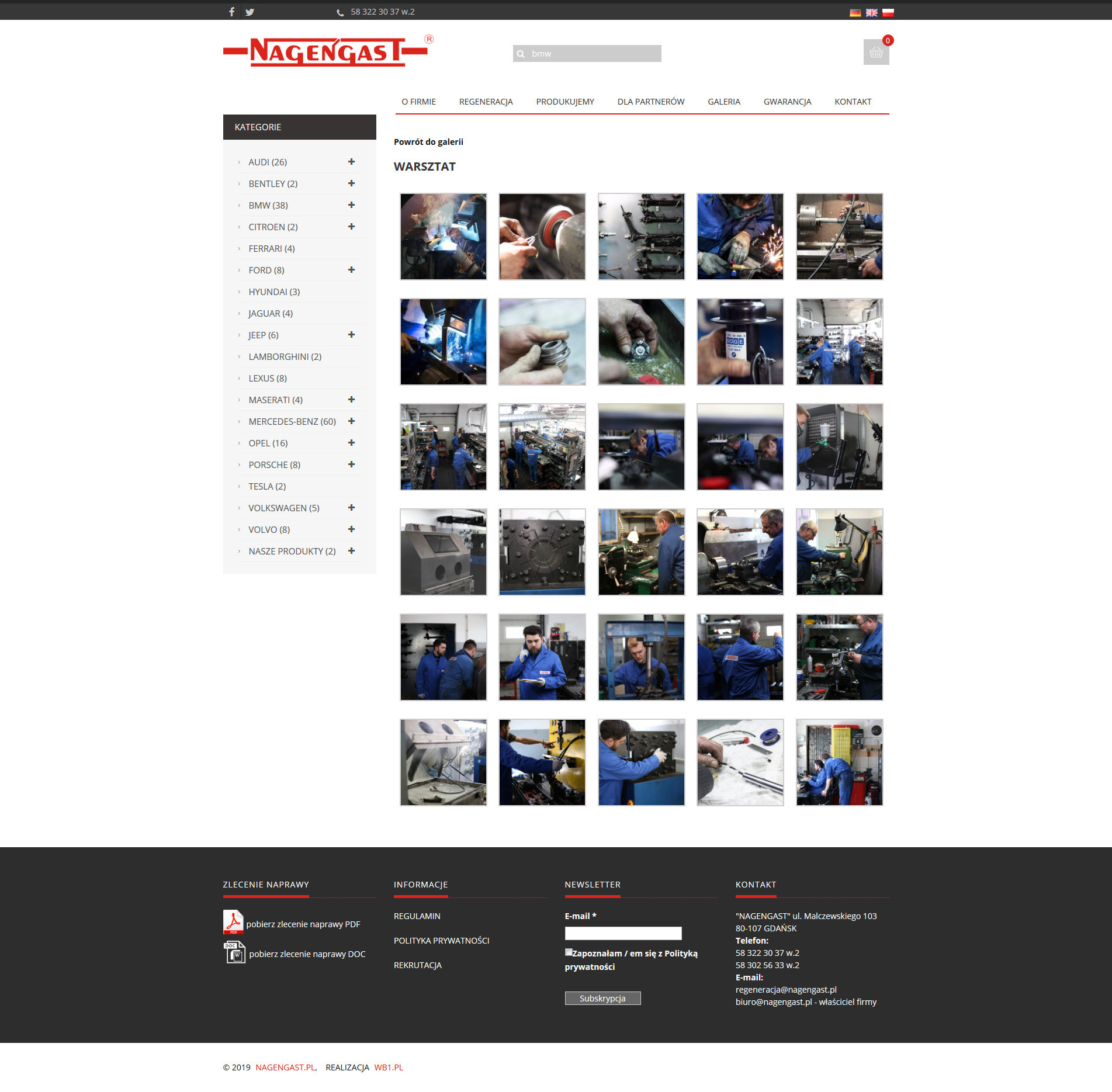 nagengast galeria zdjęć na stronie