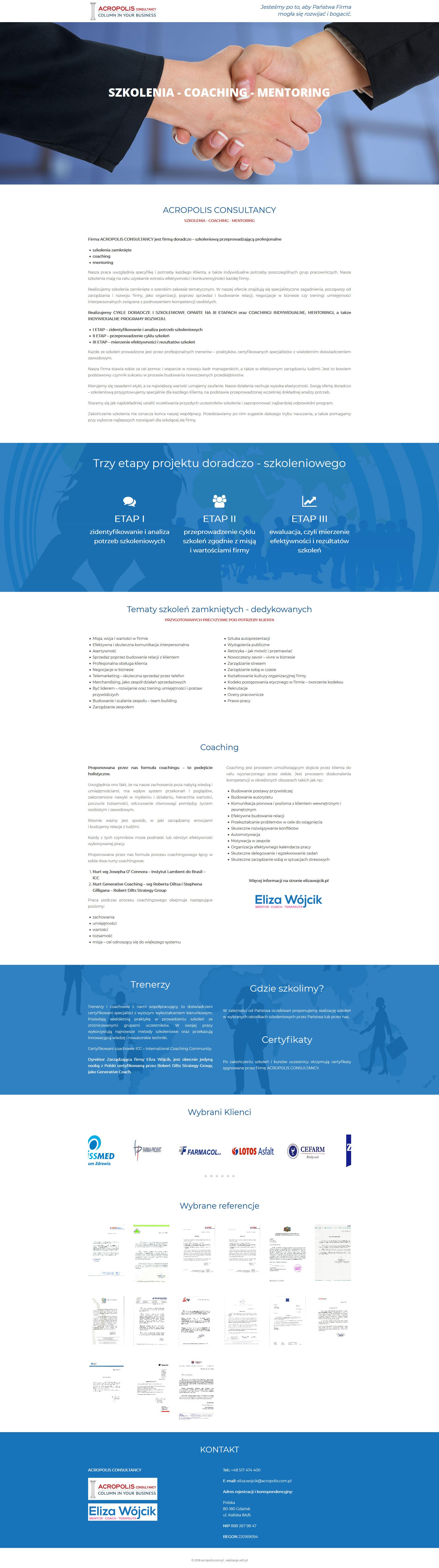 Landing Page Acropolis Consultancy