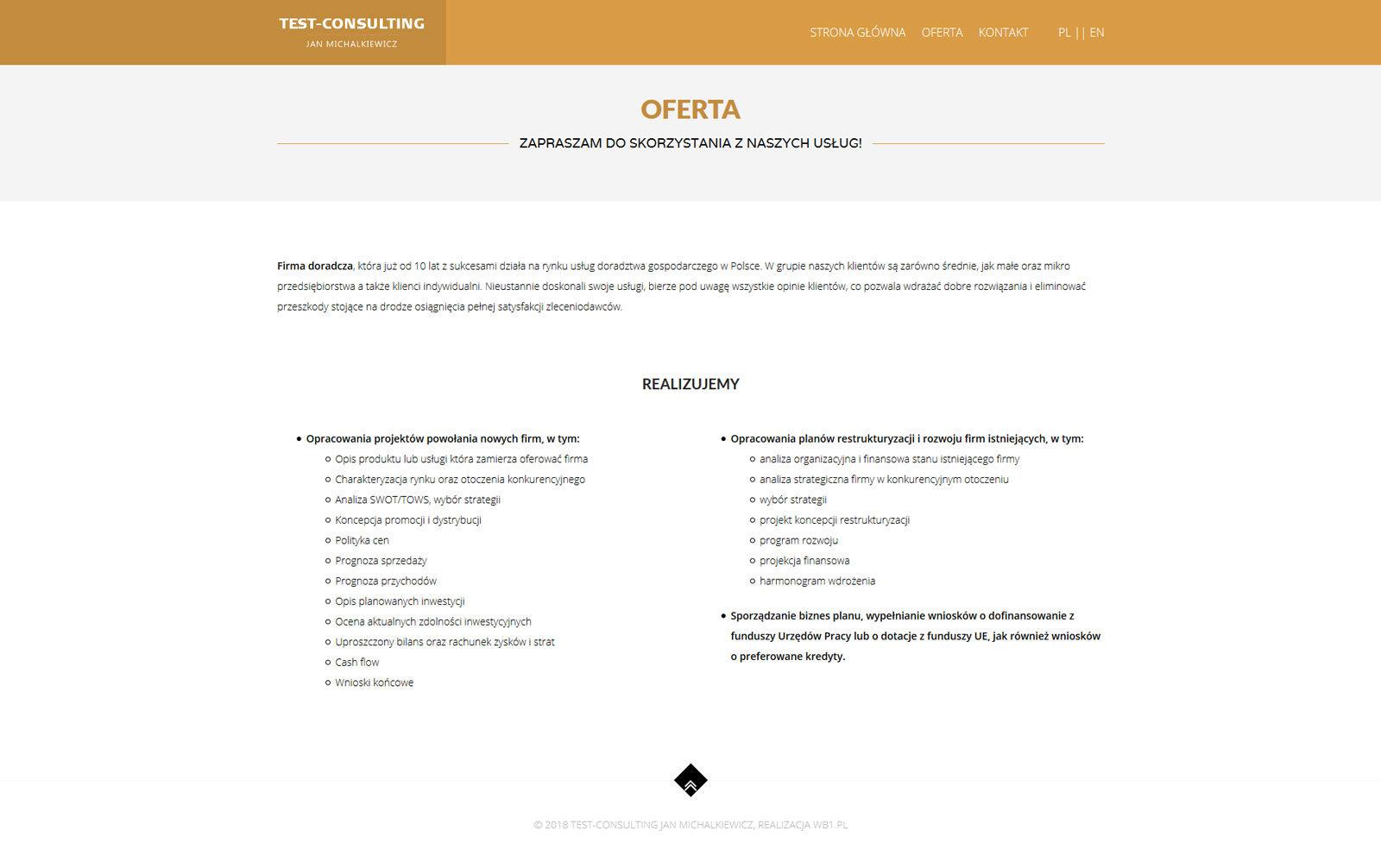 Test Consulting - oferta