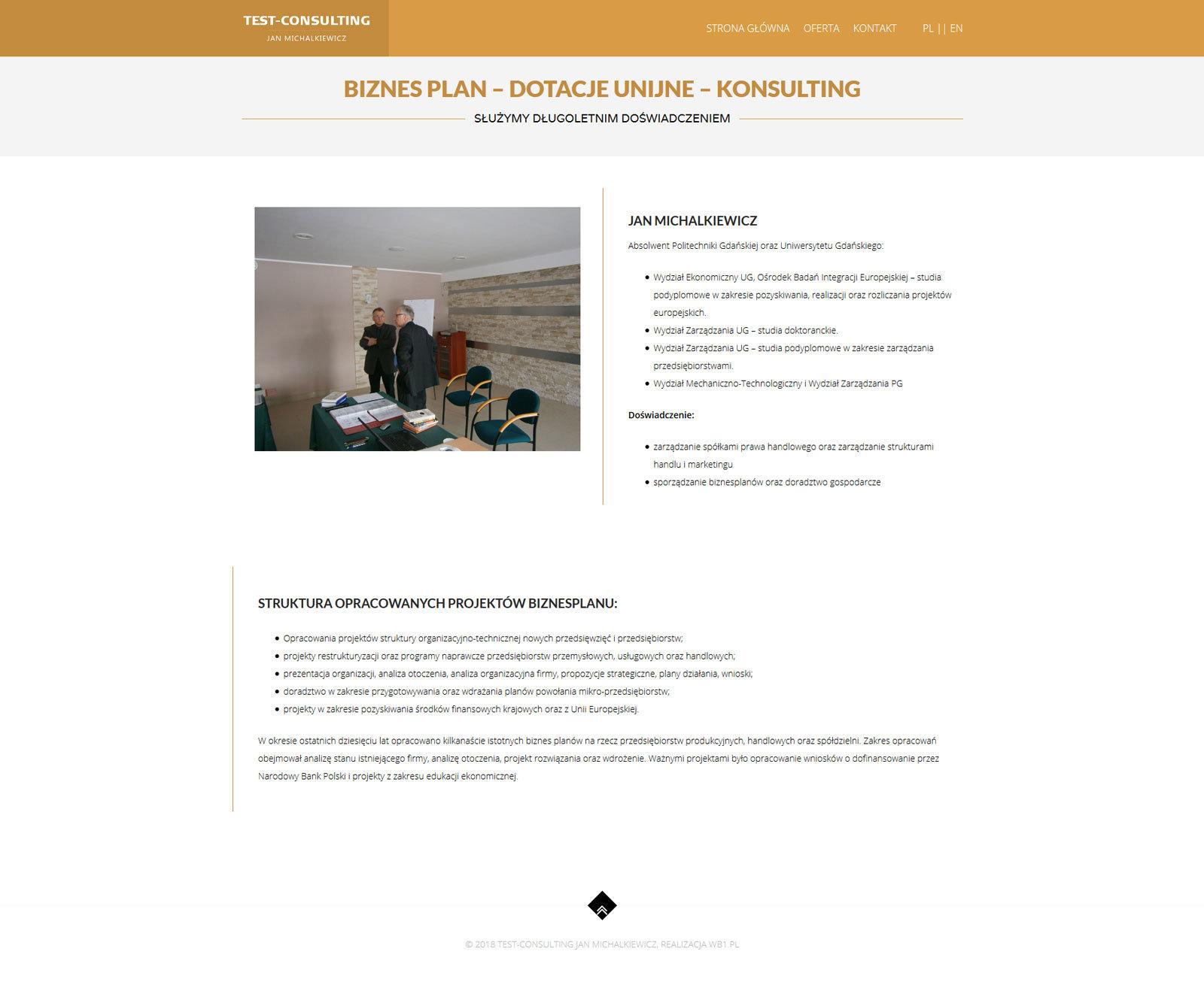 Test Consulting - strona główna
