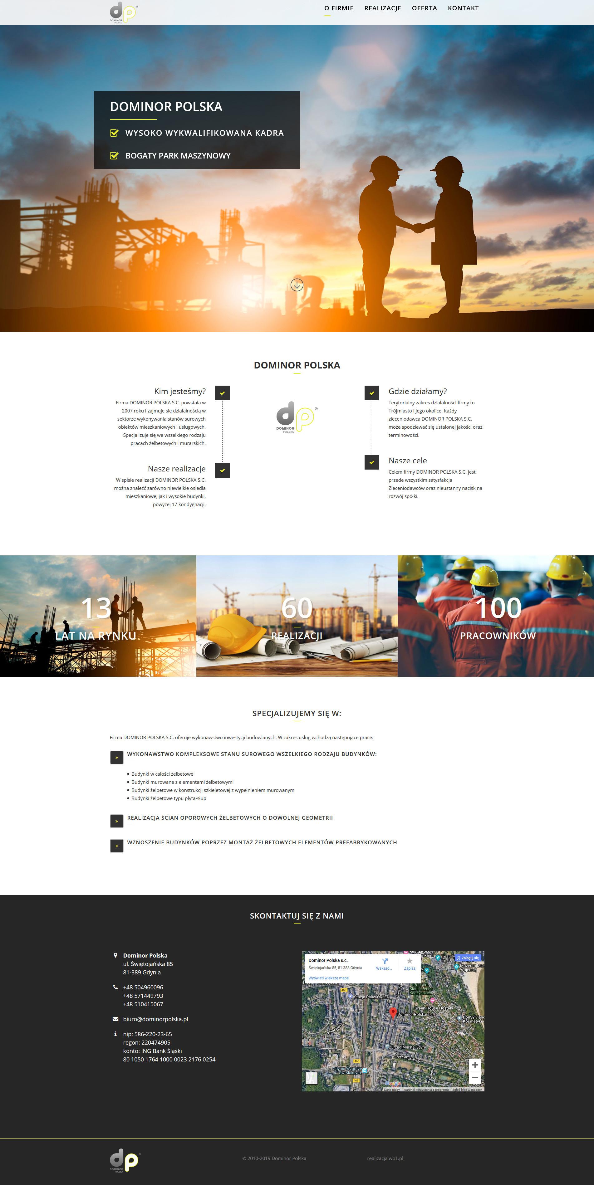projekt strony www dla firmy budowlanej